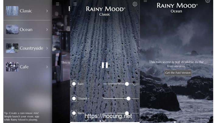 10 trang web thu gian rainy mood