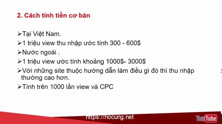 cong thuc tin tien luot view youtube viet nam