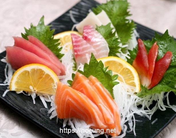 cach an sashimi ca hoi