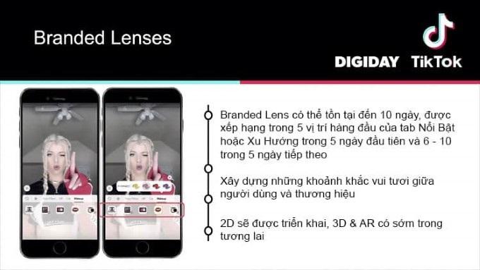 Branded Lenses tik tok ads