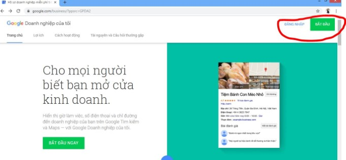 cach tao google doanh nghiep