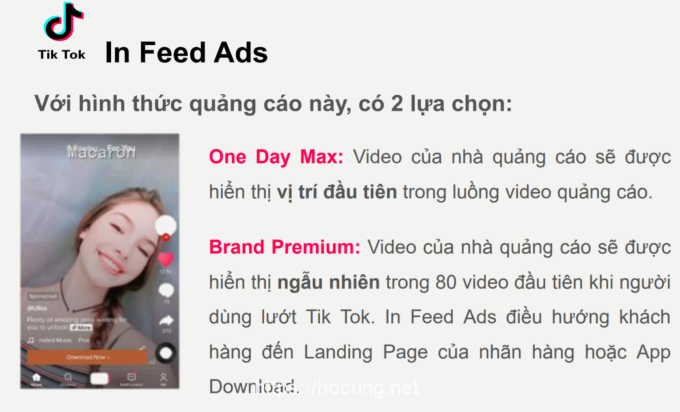 in feed ads tik tok