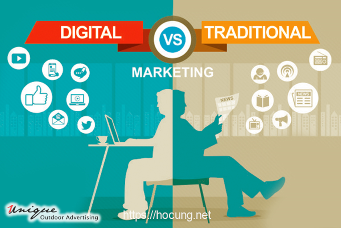marketing truyen thong vs online